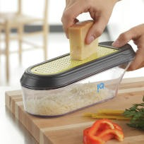 KitchenIQ V-etched Container Grater