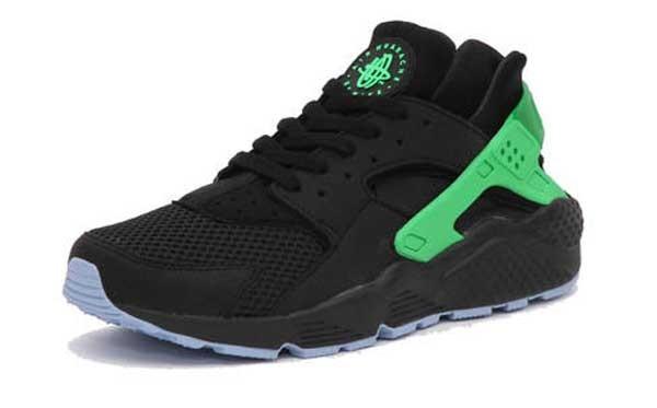Nike Air Huarache Black Oison Green 2