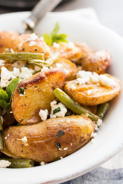 Greek Roasted Potatoes and Green Beans Picture