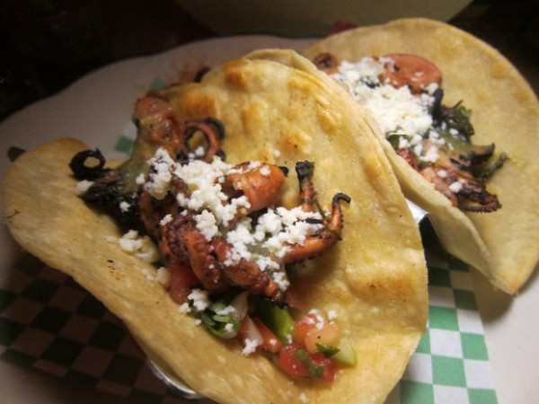 octopus tacos