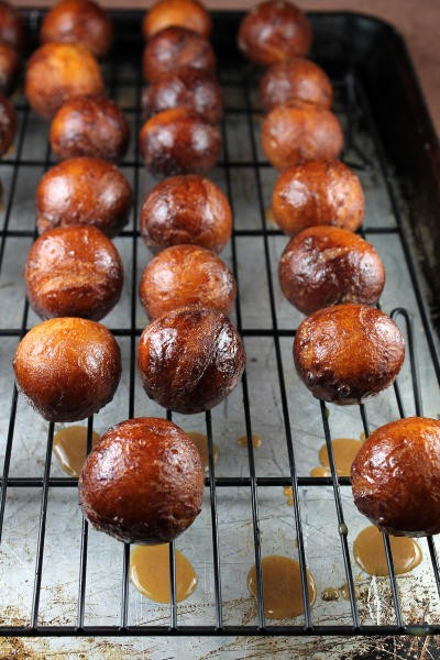 Chai Latte Glazed Donut Holes Picture