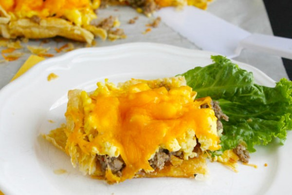 Sausage, Egg and Cheese Breakfast Tart Photo