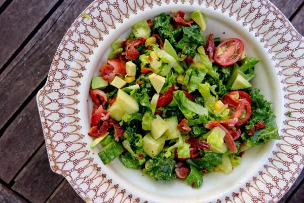 Big chopped salad with lemon poppyseed vinaigrette on eatlivetravelwrite.com