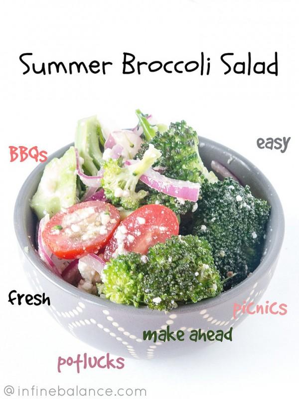 Broccoli and Feta Salad #summerfood
