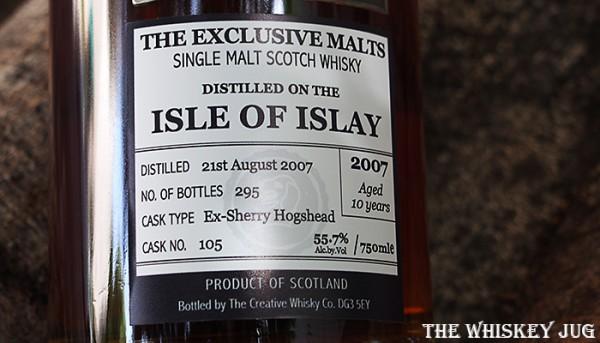 Exclusive Malts Isle of Islay 10 Label