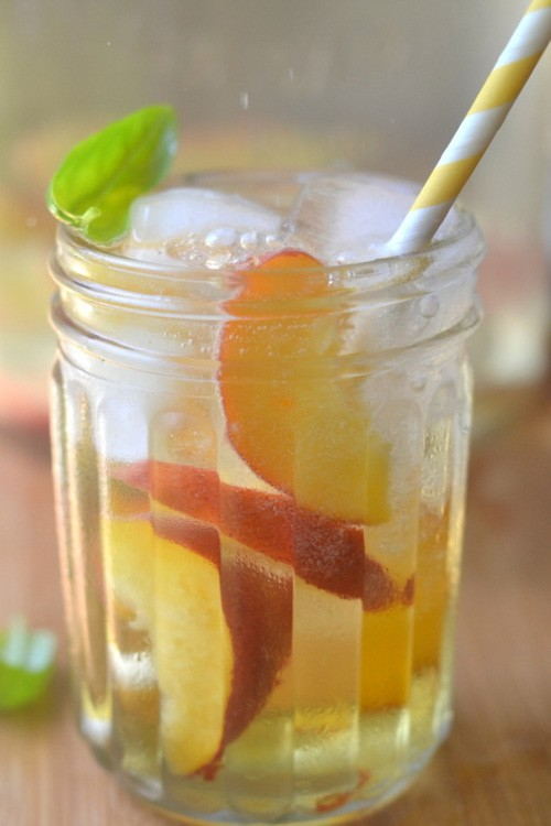 Summer Peach & Basil Sangria | The View from Great Island