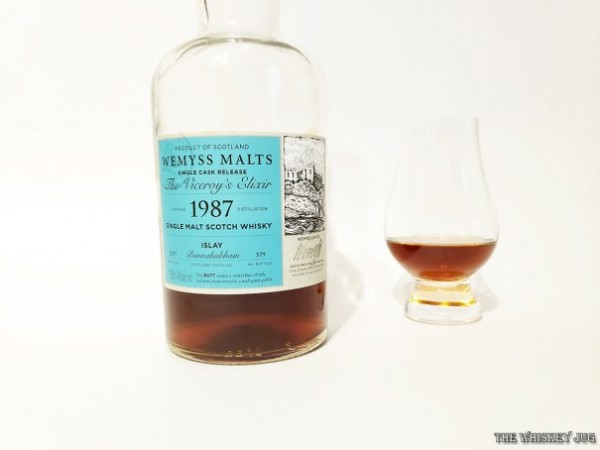 Wemyss is an independent bottler from Scotland. They bottled this 29-year-old single sherry butt from Bunnahabhain and called it the The Viceroy's Elixir. Distilled in 1987 and bottled in 2017.