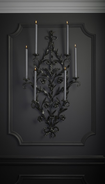 Classic elements, beautifully rendered in black.