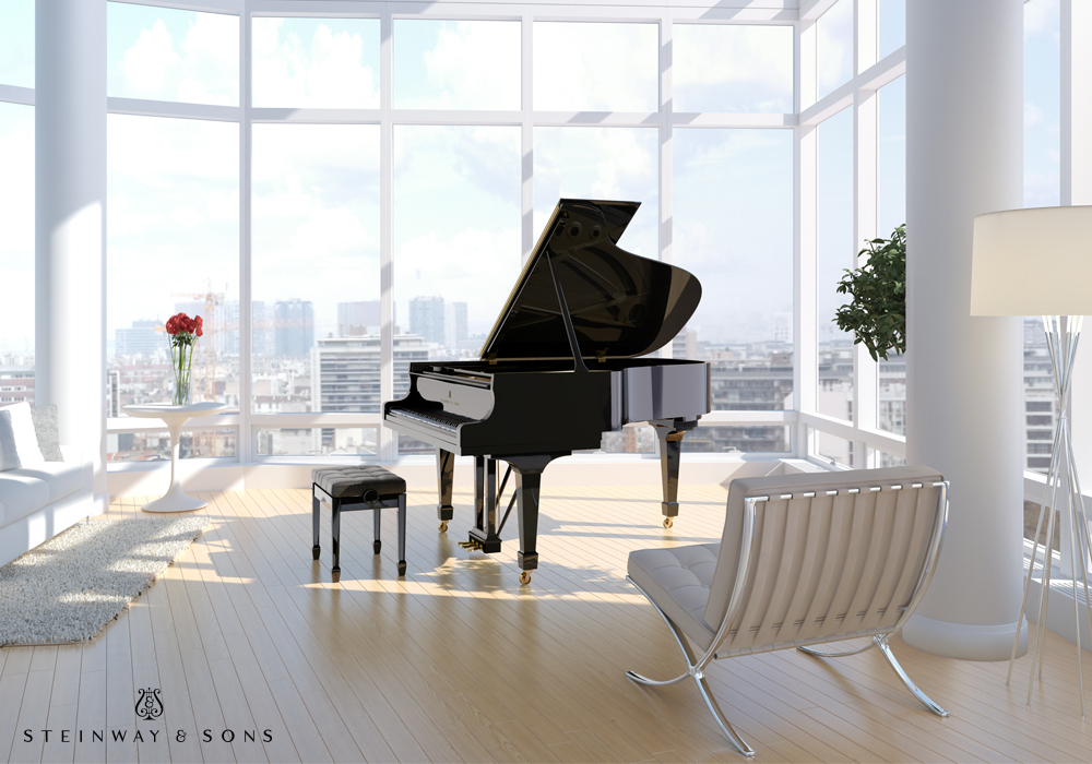 """The Steinway & Sons Model A is known for delivering a """"grand"""" sound in a medium-scale instrument. It offers power and warmth, with a design that allows the solid spruce..."""