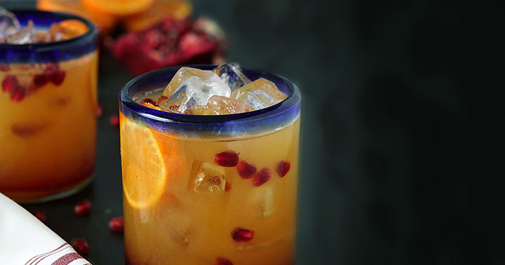 Tequila Sunrise with Fresh Pomegranate : Tequila : DrinkWire