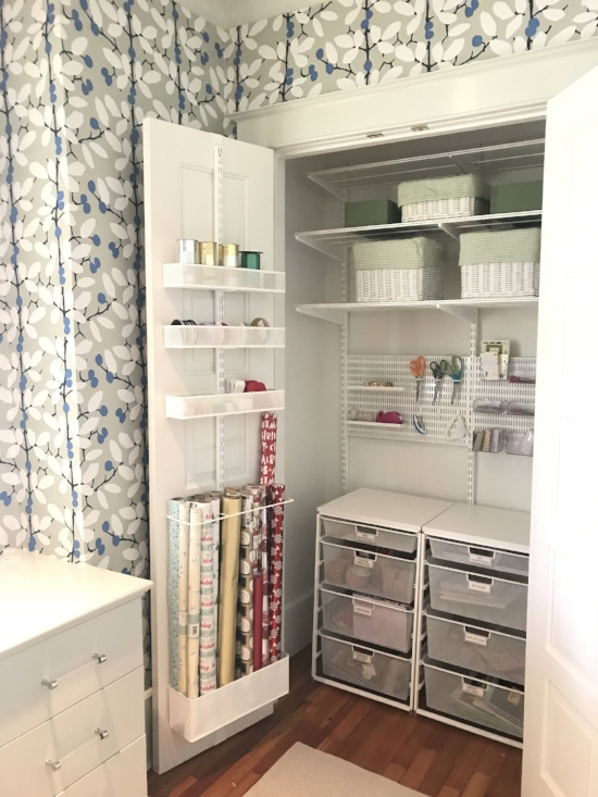 HOW TO CREATE A GIFT WRAP CLOSET