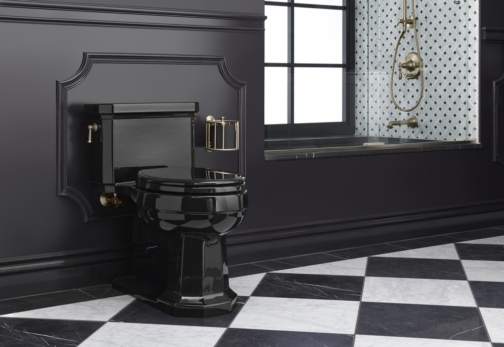 HydroRail shower column   Artifacts valve trim  and  spout   Tea-for-Two bath   Artifacts tissue carriage   Kathryn toilet