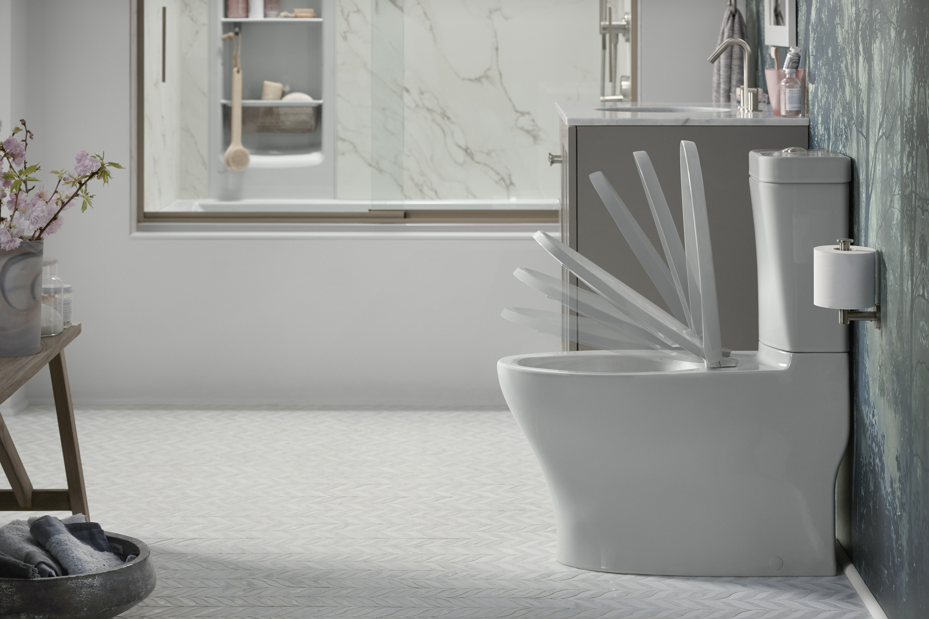Reveal® toilet seat     Eliminate slamming with a toilet seat designed to close slowly and quietly.
