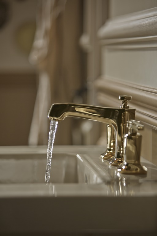 Margaux faucet   It's hard to beat gold for sheer glamour.