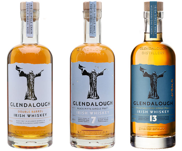 Glendalough's Double Barrel, 7-year old and 13-year old Irish Whiskeys