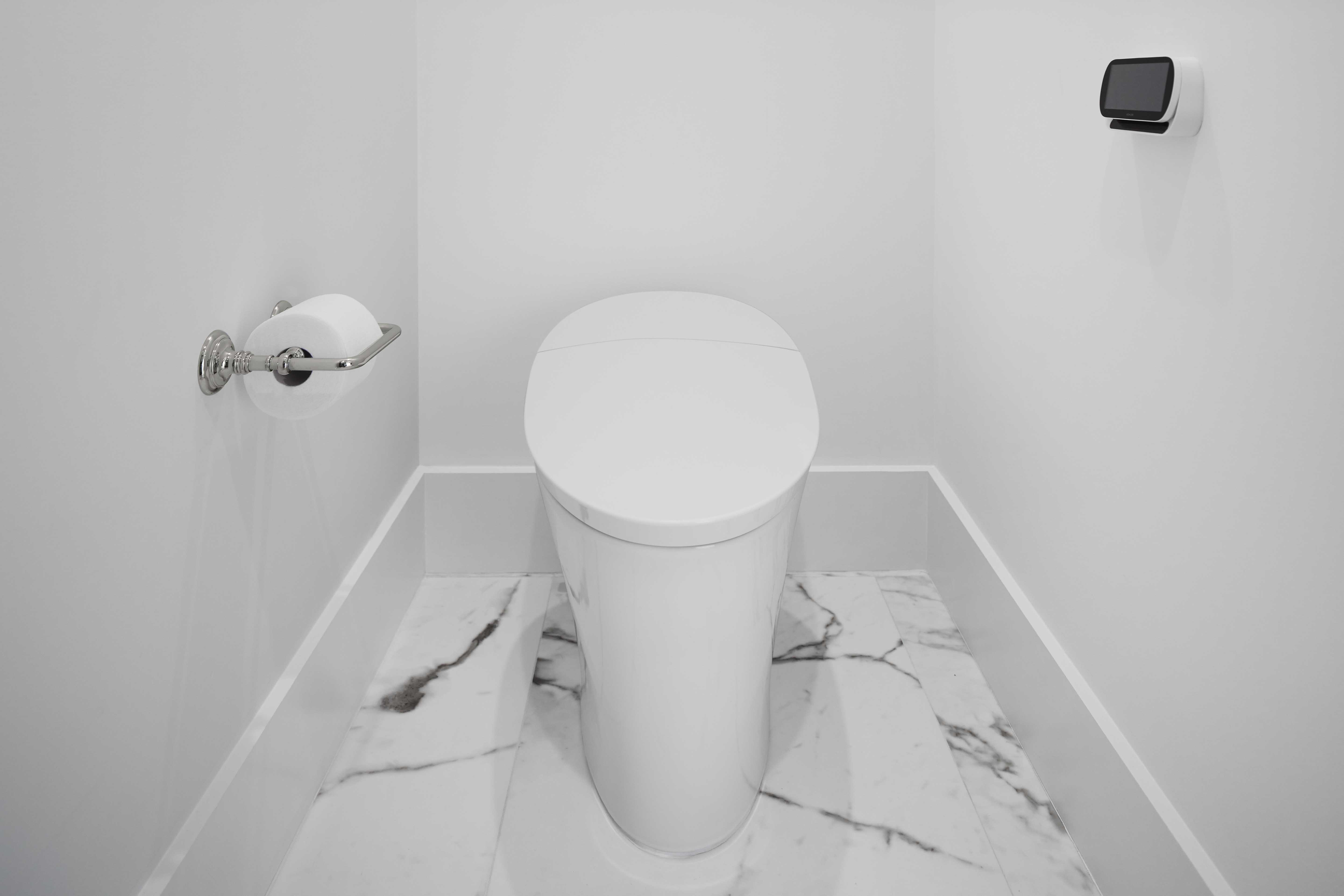 Veil Intelligent Toilet     Artifacts Toilet Tissue Holder     A remote controlled toilet with bidet functionality delivers a higher sense of clean and comfort with warm-water cleansing, a heated seat and more.