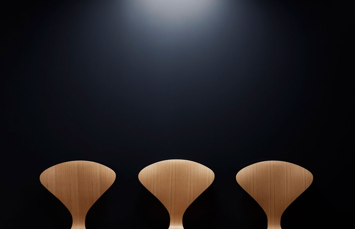 Handcrafted maple bar stools epitomize Nordic design with the use of natural materials to create functional, ergonomic stools that double as art forms.