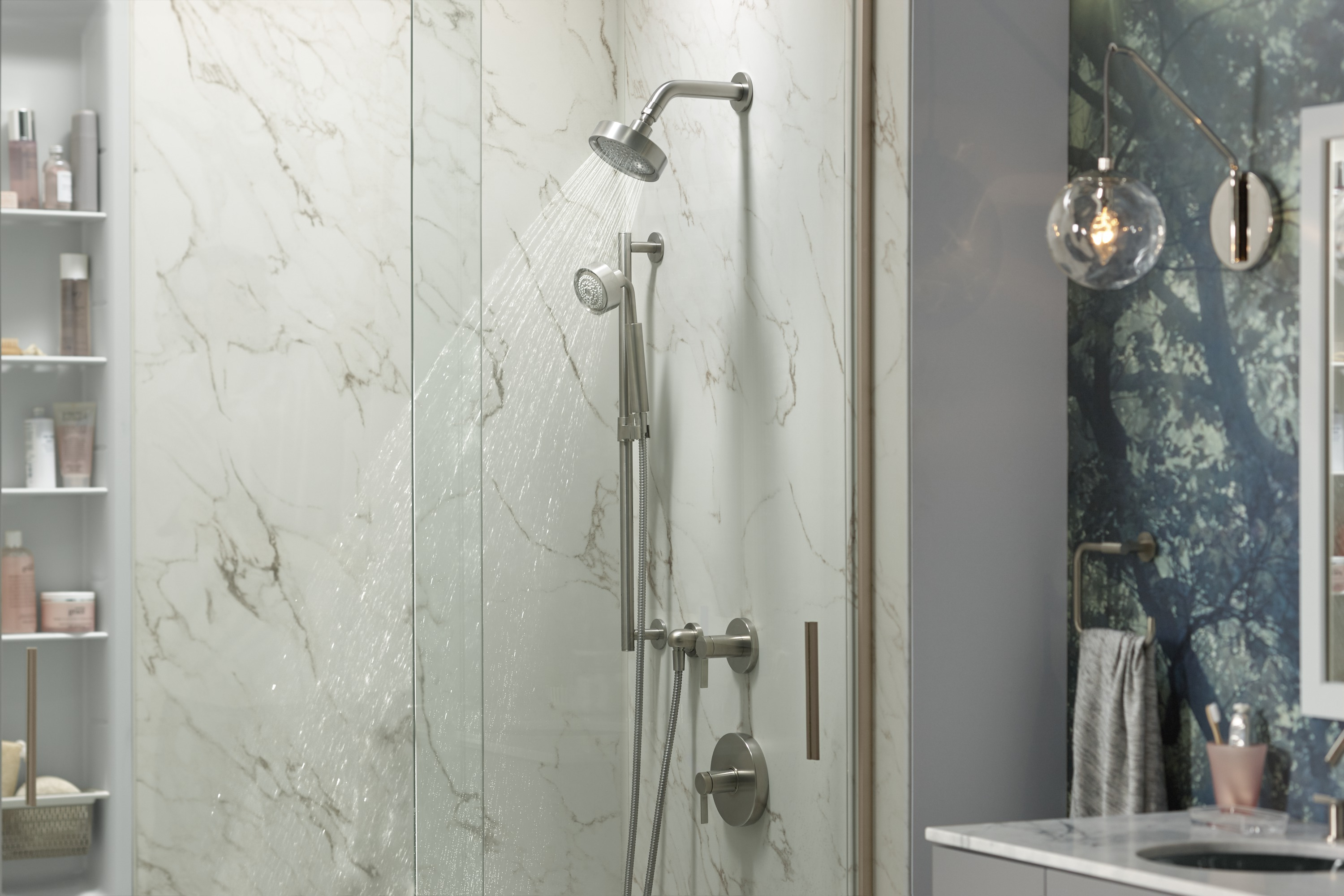 Slidebar     Purist® handshower     MasterShower® hose     Purist showerhead     The perfect feature for a shower used by multiple individuals, a slidebar allows everyone to adjust the handshower to a comfortable height.