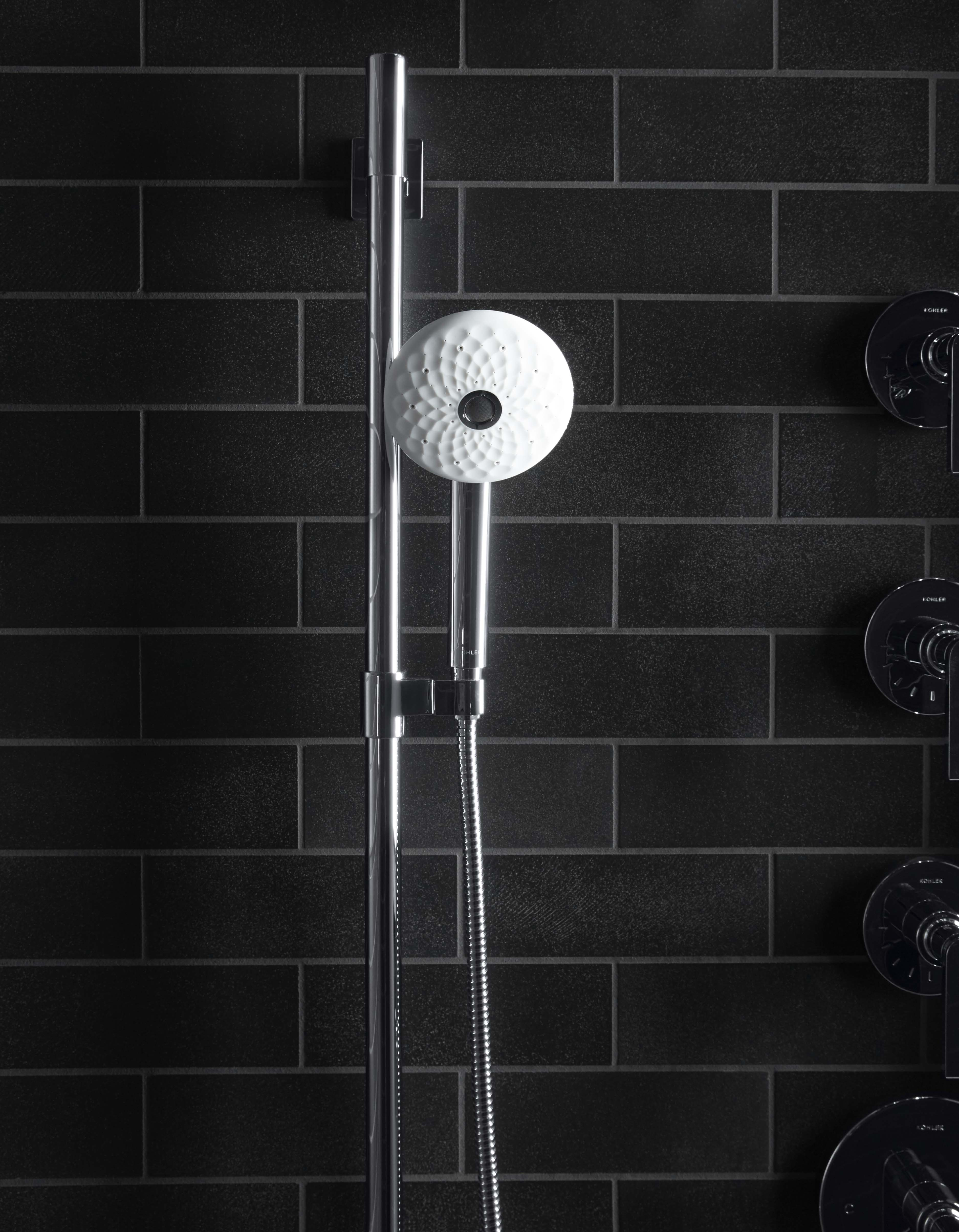 Exhale Handshower     Awaken Slidebar     A handshower-slidebar combo is perfect for reaching sore muscles, scrubbing your muddy dog and cleaning the shower itself. Or just adjust it for your height and enjoy your shower as usual.
