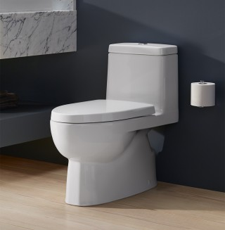 A modern design combined with a skirted trapway makes the Reach ™  Comfort Height ®  toilet both sleek and easy-to-clean.    Reach™ Comfort Height®