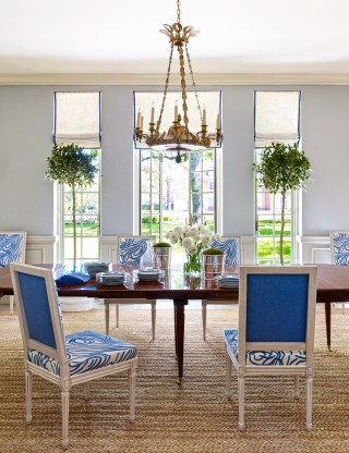 Dining Room by Bruce Budd and Bute King Architects in Houston, TX