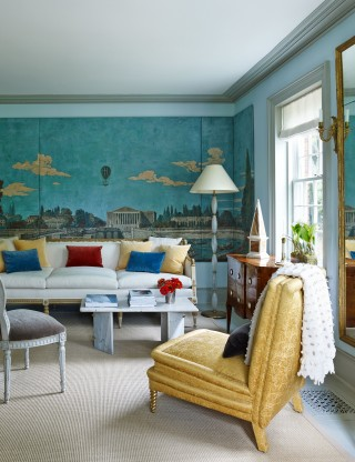 Traditional Living Room by D\'Aquino Monaco and D\'Aquino Monaco in Hudson River Valley, NY
