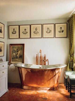 Traditional Bathroom in Burgundy, France