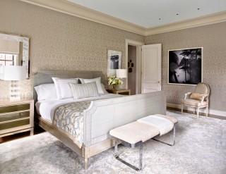Modern Bedroom by Michael S. Smith and Ferguson & Shamamian Architects in New York, NY