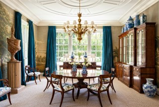Traditional Dining Room by Miles Redd and Charlie Barnett in California