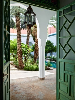 Exotic Outdoor Space by Ahmad Sardar-Afkhami in Marrakech, Morocco