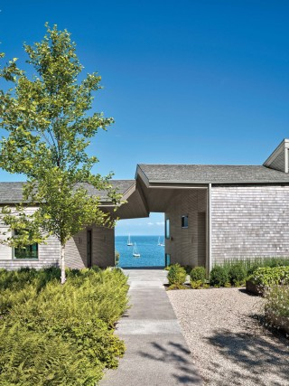 Beach Exterior by Leroy Street Studio in Woods Hole, Massachusetts