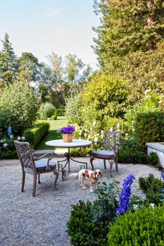 Traditional Outdoor Space by Miles Redd and Charlie Barnett in California