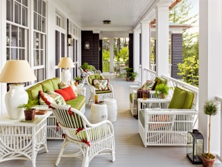 Traditional Outdoor Space and G. P. Schafer Architect in Lake Placid, NY