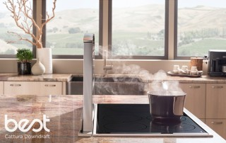 BEST® Cattura downdraft features the VERTEX™ Complete Capture Design, capturing smoke and odors as effectively as island hoods. It fits any cooktop appliance and disappears with the touch of a...