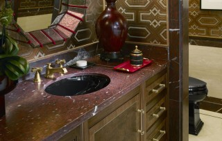 Caxton Undermount Sink    Pinstripe Sink Faucet    From color palette to décor, every element of the space adds another delightful surprise to the design.