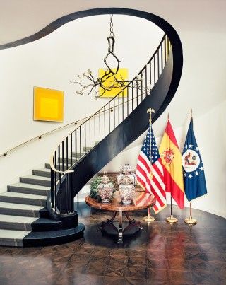 Staircase/Hallway by Michael S. Smith in Madrid, Spain