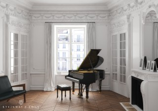The smallest of the Steinway & Sons grands, this piano was introduced in the 1930s, inviting the majesty of the Steinway sound into almost any refined space.