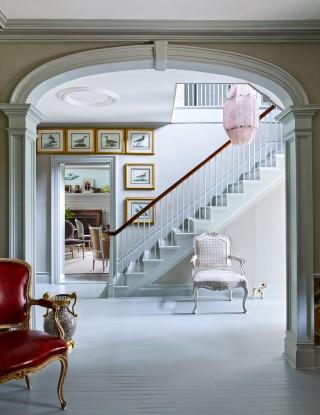Traditional Staircase/Hallway by D\'Aquino Monaco and D\'Aquino Monaco in Hudson River Valley, NY