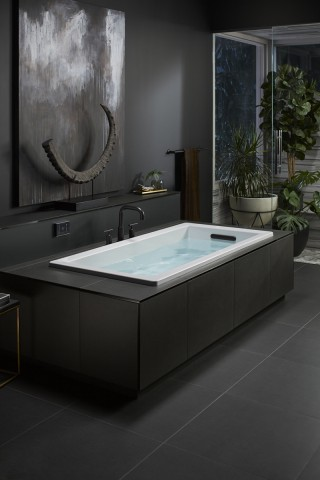 Underscore Bath    Purist Bath Filler   Turn off the noise of your day by turning on your favorite playlist. The Underscore Bath syncs to your Bluetooth-enabled devices, allowing you to relax on your terms.