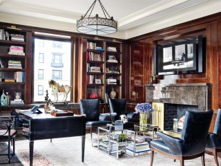 Modern Office/Library by Mark Stumer and James Aman in New York, NY