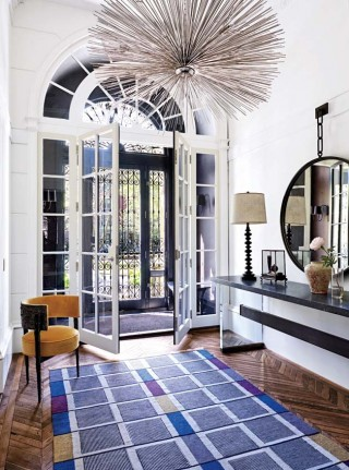 Modern Entrance Hall by Wells & Fox and Dell Mitchell in Boston, MA