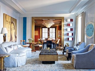 Modern Living Room by Mark Stumer and James Aman in New York, NY