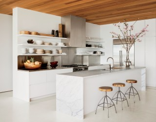 Beach Kitchen by 1100 Architect in Palm Beach, Florida