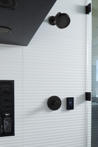 DTV+™ digital shower system    Awaken® showerhead    The digital shower system with overhead showerhead sprays lets users program their preferences for a more personalized experience.