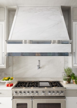 Karbon wall-mount pot filler    A sophisticated wall-mount faucet eases kitchen tasks and looks sharp.
