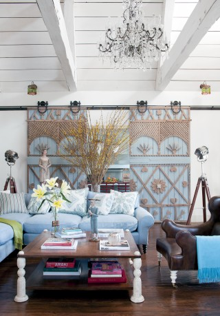 Rustic Living Room by Martyn Lawrence Bullard Design in Los Angeles, California