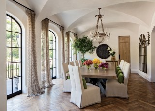 Traditional Dining Room by Joan Behnke & Associates Inc. and Landry Design Group Inc. in Los Angeles, California
