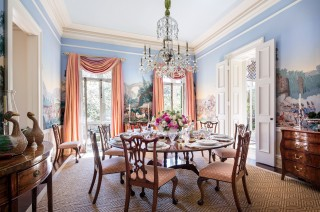 Traditional Dining Room by Mario Buatta in Charleston, South Carolina