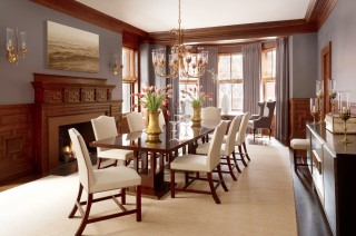 Traditional Dining Room by Thad Hayes Inc. and Dell Mitchell Architects in Boston, Massachusetts